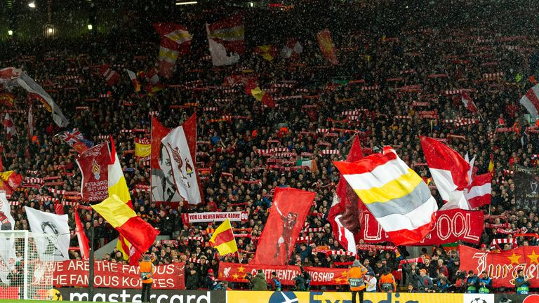 More than 50,000 supporters attended the match at Anfield