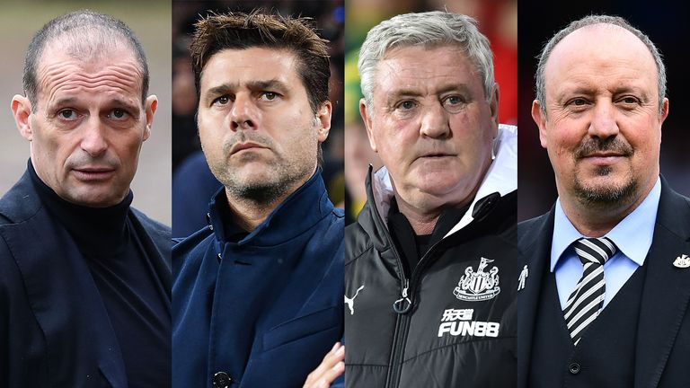Max Allegri, Mauricio Pochettino and Rafa Benitez have been mentioned as potential replacements for Bruce