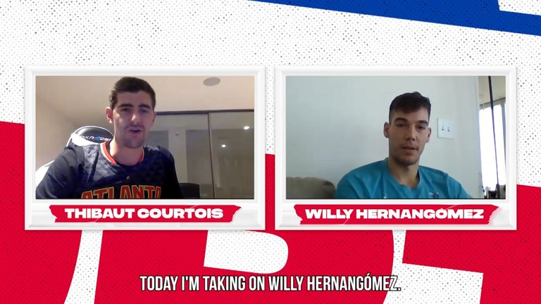 This week Thibaut Courtois takes on Charlotte Hornets star Willy Hernangomez on NBA2K20. You can watch the full version on the Sky Sports YouTube page.