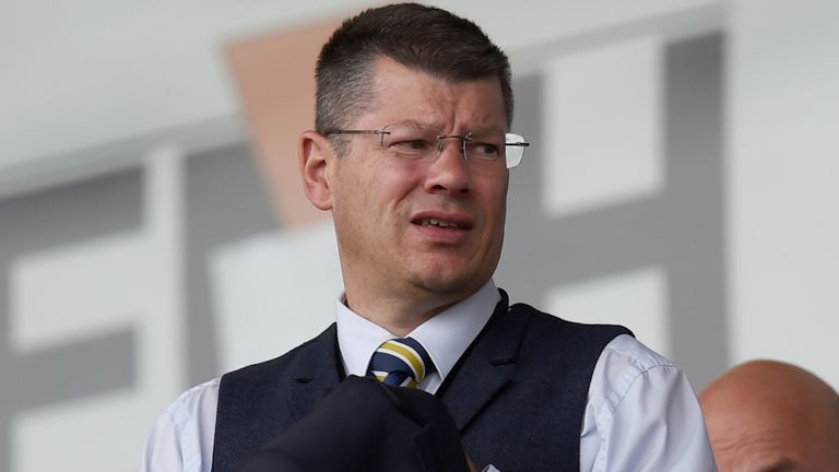 SPFL Chief Executive Neil Doncaster at the game between Hamilton and Kilmarnock