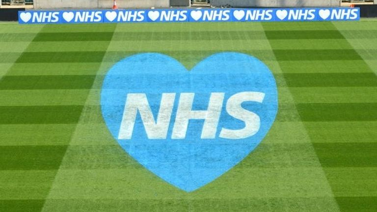 Twickenham Stadium showed its support for the NHS during the pandemic