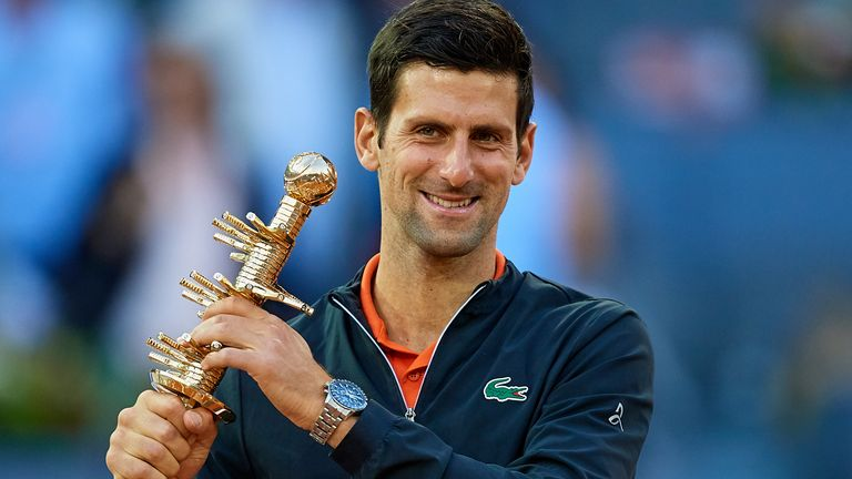 Novak Djokovic won the Mutua Madrid Open at La Caja Magica in Madrid last year but he won't be defending his title until at least 2021