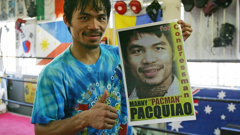 Pacquiao ran for Congress in the same year as Torrecampo's warrant for arrest