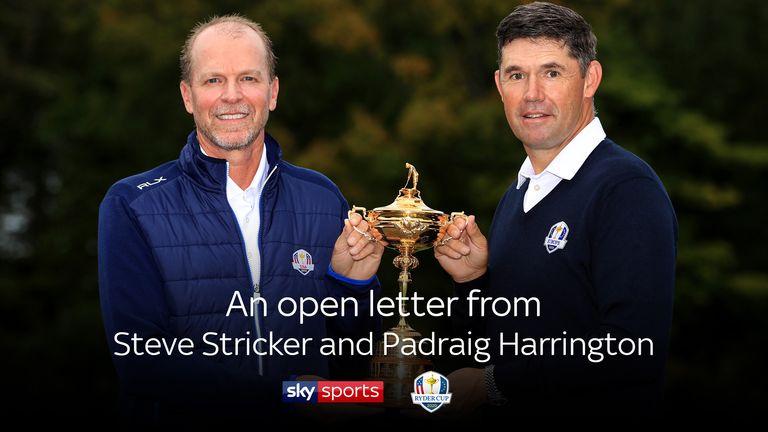 Open letter from Steve Stricker and Padraig Harrington