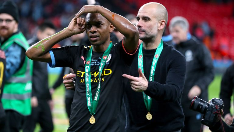 Fernandinho has impressed at centre-back under Pep Guardiola this season