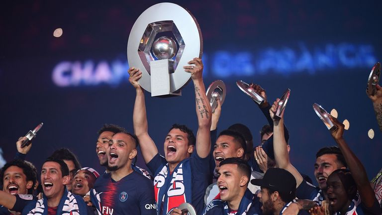 PSG have been handed their seventh league title in eight years