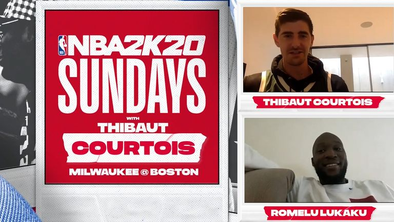Thibaut Courtois took on Romelu Lukaku on Thibaut NBA2k20