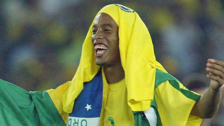 Former Barcelona midfielder Ronaldinho won the World Cup with Brazil in 2002
