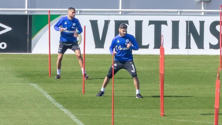 Socially distanced training at Schalke
