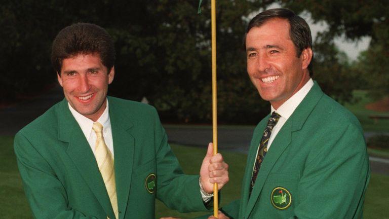 Seve Ballesteros (right) and Jose Maria Olazabal