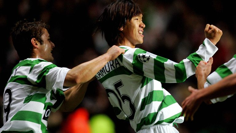 Shunsuke Nakamura became feared throughout Scottish football for his set-piece ability