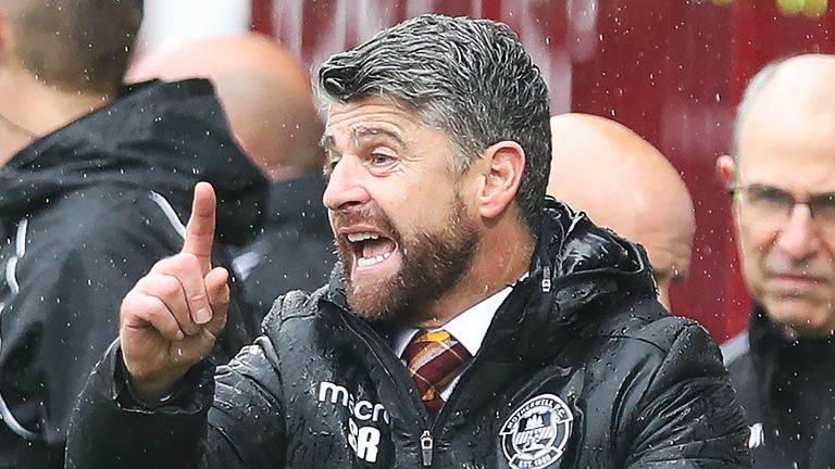 Stephen Robinson has been Motherwell manager since 2017