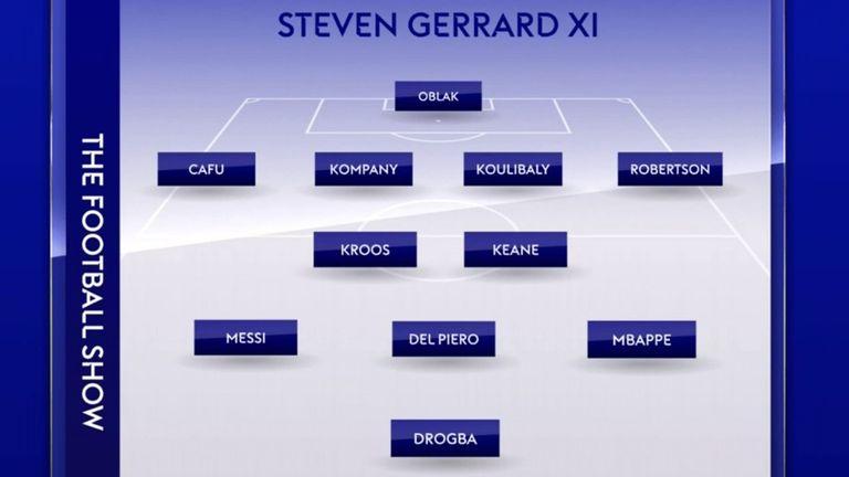 Steven Gerrard's World XI with a twist
