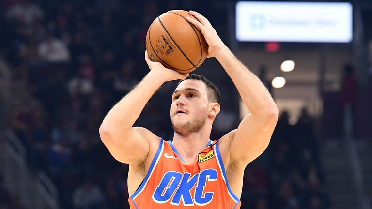 Danilo Gallinari of the Oklahoma City Thunder