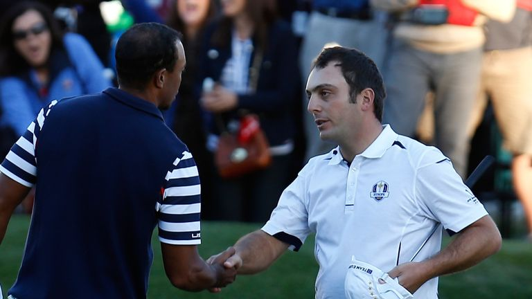 Tiger Woods conceded a three-foot putt to Francesco Molinari which guaranteed overall victory for Europe