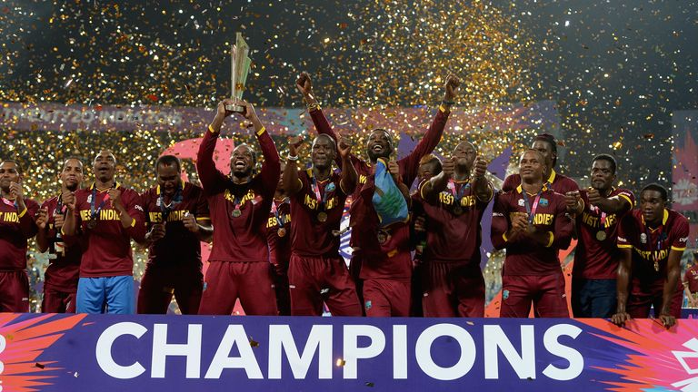 West Indies won the last edition of the men's T20 World Cup, beating England in the final