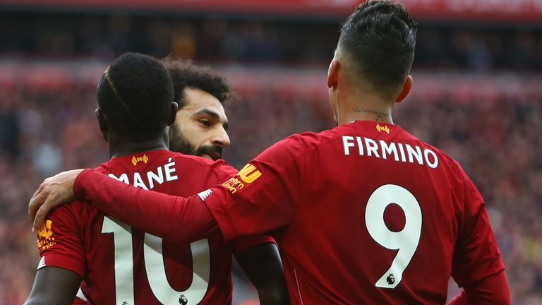 Sadio Mane, Roberto Firmino and Mohamed Salah have helped guide Liverpool into a huge lead at the top of the Premier League