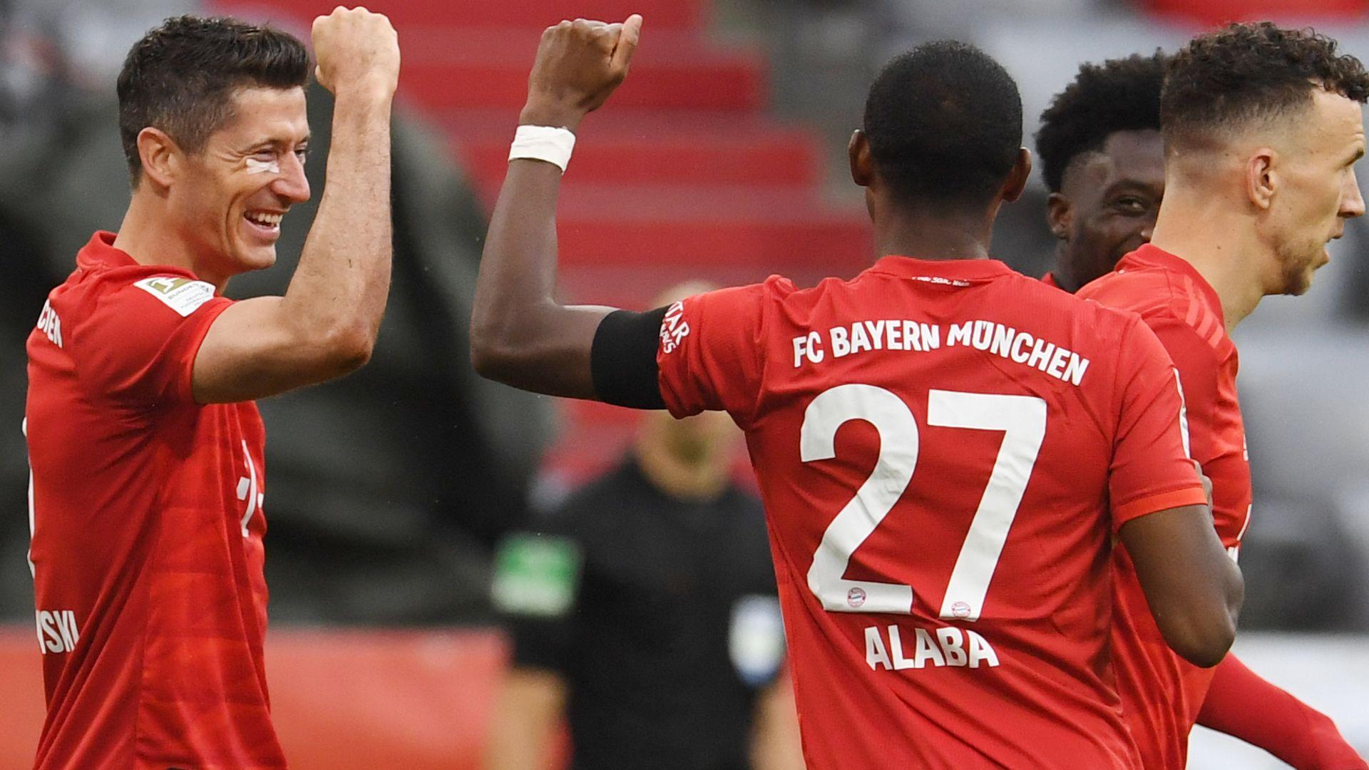 Bayern score five to outclass Frankfurt