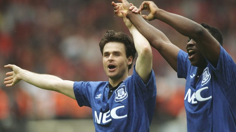 Anders Limpar and Amokachi were two of the stars of Everton's Cup success