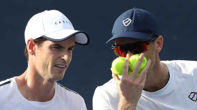Andy and Jamie Murray played together in the Citi Open in Washington last August
