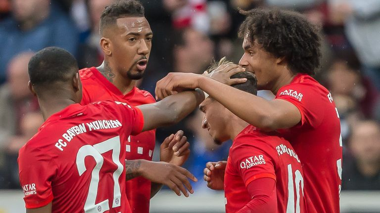 Leaders Bayern Munich are four points clear of Borussia Dortmund with nine matches left to play