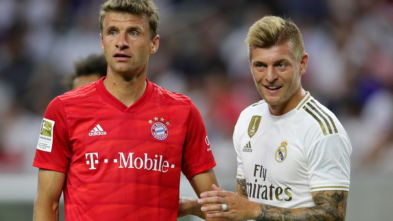 Bayern played Real Madrid in the preseason International Champions Cup last year