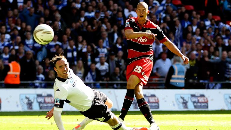 Bobby Zamora curled his effort around Richard Keogh and past goalkeeper Lee Grant in the 90th minute