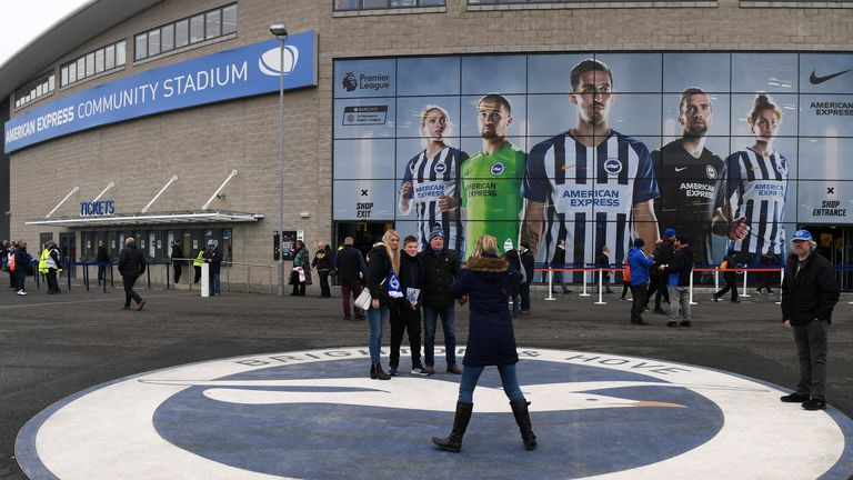 Brighton's Amex is one of the stadiums suggested could be used for the Premier League's 'Project Restart'