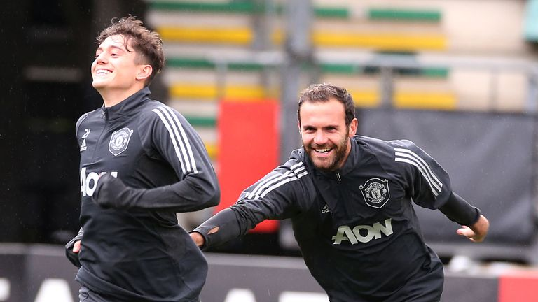 James idolised Mata growing up as a child