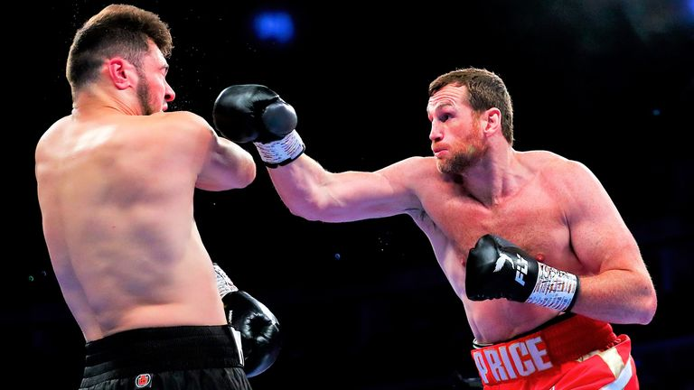 Price halted Allen in the 10th round of a one-sided domestic clash