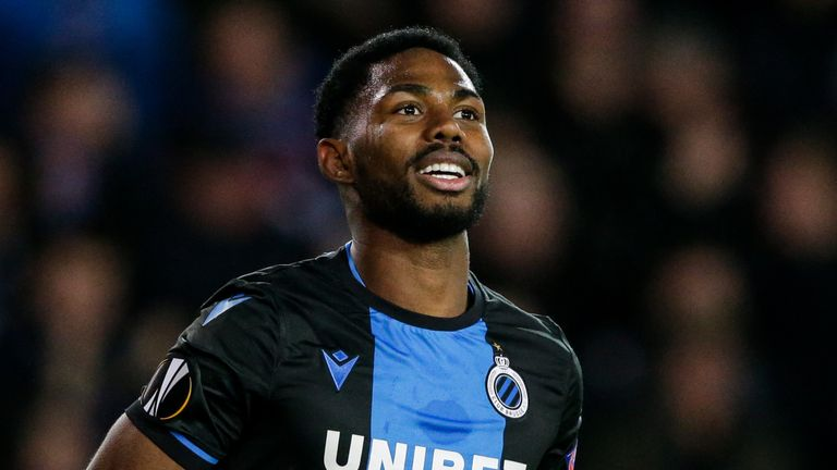 BRUGGE, BELGIUM - FEBRUARY 20: Emmanuel Dennis of Club Brugge during the UEFA Europa League match between Club Brugge v Manchester United at the Jan Breydel Stadium on February 20, 2020 in Brugge Belgium (Photo by Erwin Spek/Soccrates/Getty Images)