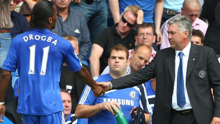 Carlo Ancelotti praised the impact of Didier Drogba among many of his Chelsea squad