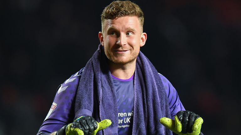LONDON, ENGLAND - JANUARY 22: Charlton Athletic's Dillon Phillips gestures to the Fulham fans after the Sky Bet Championship match between Charlton Athletic and Fulham at The Valley on January 22, 2020 in London, England. (Photo by Ashley Western/MB Media/Getty Images)