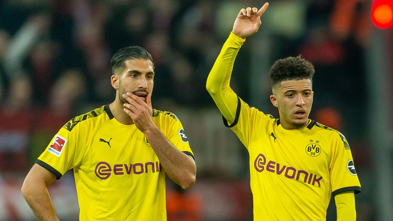 Jadon Sancho and Emre Can