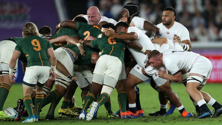 South Africa's dominant scrum led them to victory against England in last year's World Cup final