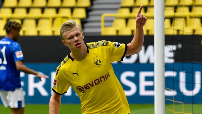 Erling Haaland put Dortmund ahead with a smart finish