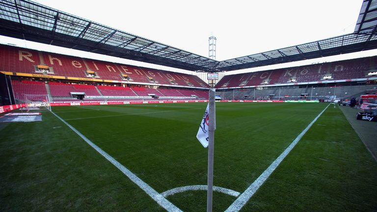 A general view of the RheinEnergie stadium during the DFB Women's Cup final match between 1. FFC Frankfurt and Turbine Potsdam at RheinEnergie stadium on March 26, 2011 in Cologne, Germany.