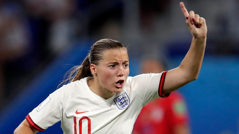Fran Kirby of England Women during the World Cup Women match between England v USA at the Stade de Lyon on July 2, 2019 in Lyon France