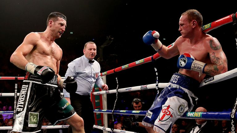 Froch forced Groves to the ropes in the ninth round