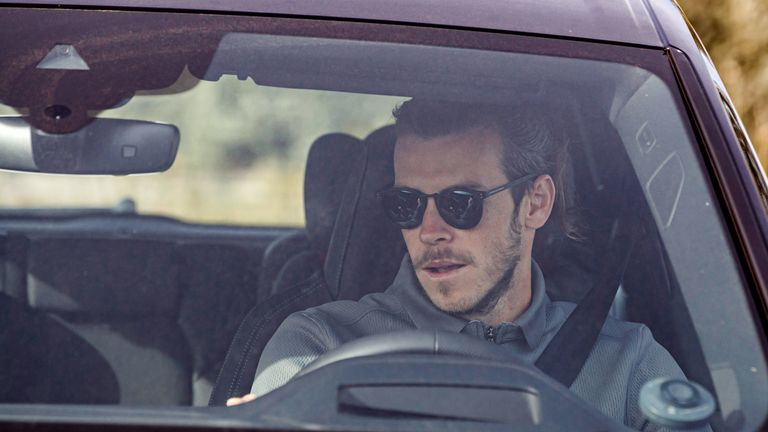 Gareth Bale reports to Real Madrid's training ground for medical tests ahead of the resumption of training.