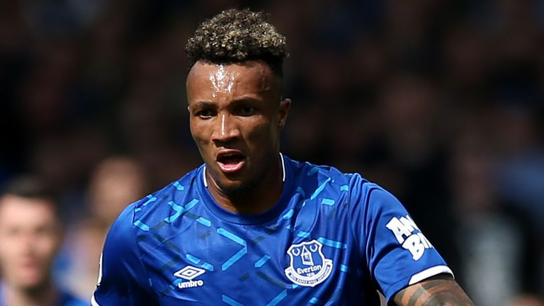 LIVERPOOL, ENGLAND - AUGUST 17: Jean-Philippe Gbamin of Everton during the Premier League match between Everton FC and Watford FC at Goodison Park on August 17, 2019 in Liverpool, United Kingdom. (Photo by Jan Kruger/Getty Images)