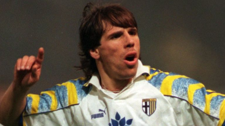 Gianfranco Zola was moved from his favourite position by Carlo Ancelotti at Parma
