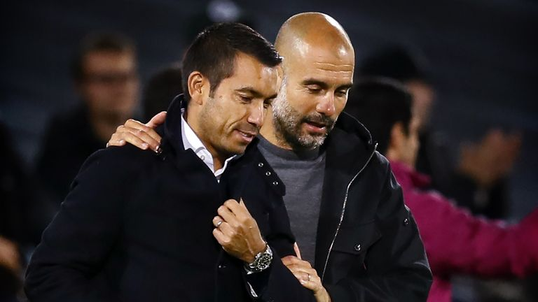 Giovanni van Bronckhorst says Pep Guardiola has been a big influence on his managerial career