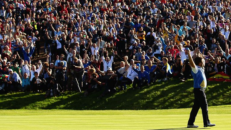 Graeme McDowell clinched victory for Europe at the 2010 Ryder Cup