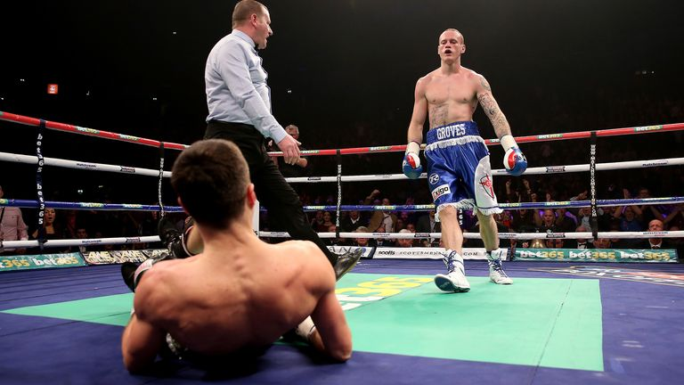 Groves floored Froch in the first round
