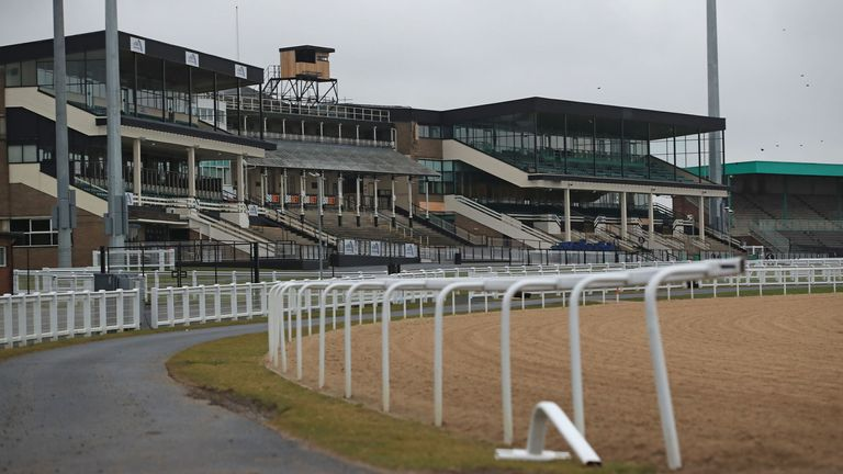 Newcastle racecourse will host flat races when the sport resumes on Monday