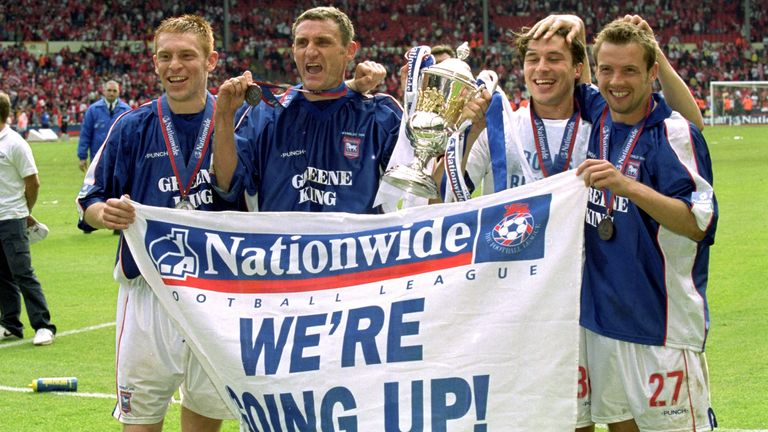 Ipswich Town were the final First Division play-off winners at the old Wembley