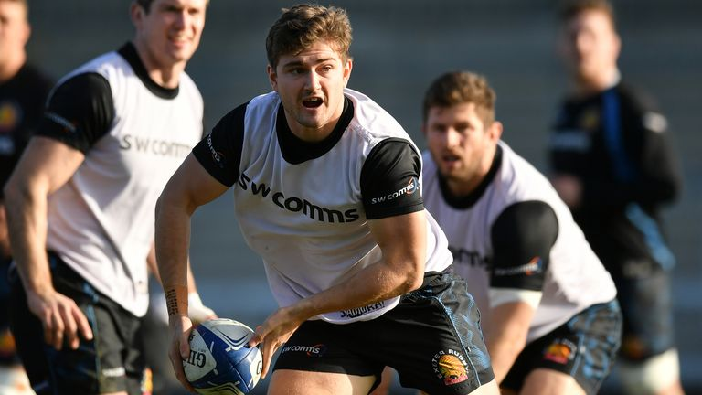 Exeter Chiefs' Jack Maunder in training