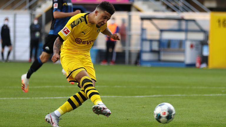 Jadon Sancho makes it 6-1