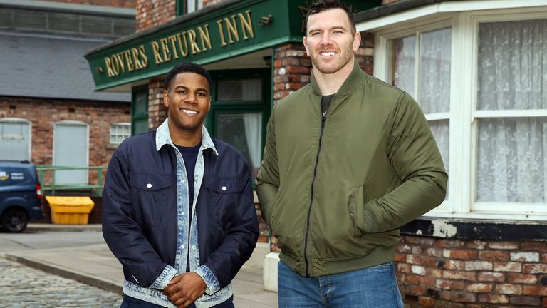 Nathan met with Keegan Hirst when the Halifax RLFC player visited the set of Coronation Street in March